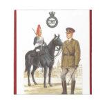 Historic British Uniforms, Blues and Royals Scratch Pads