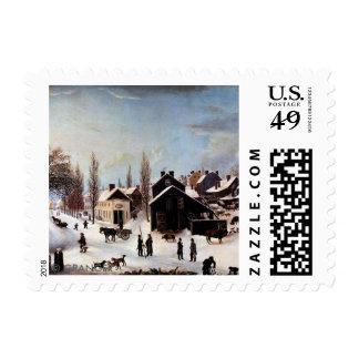 HISTORIC BROOKLYN CHRISTMAS CARD POSTAGE STAMP