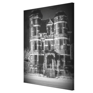 Historic Brush Park Mansion in Detroit Gallery Wrapped Canvas