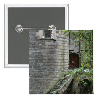 Historic building in Brittany, France Pinback Button