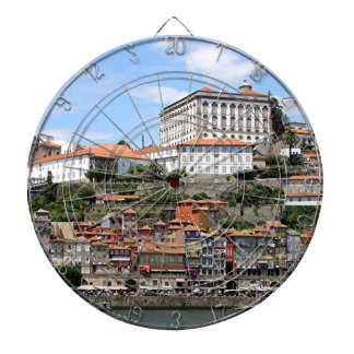 Historic buildings and river, Porto, Portugal Dartboard