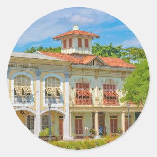Historic Buildings, Guayaquil, Ecuador Classic Round Sticker