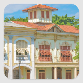 Historic Buildings, Guayaquil, Ecuador Square Sticker