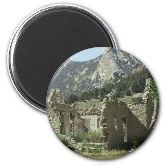 Historic Cabin 2 Inch Round Magnet