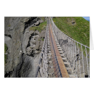 Historic Carrick-a-rede rope bridge, Northern Greeting Card