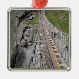 Historic Carrick-a-rede rope bridge, Northern Metal Ornament
