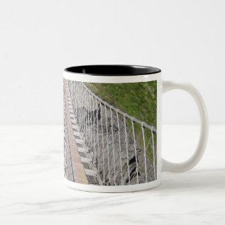 Historic Carrick-a-rede rope bridge, Northern Two-Tone Coffee Mug