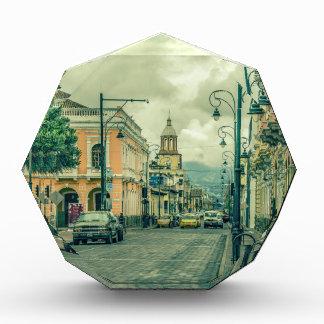 Historic Center Urban Scene at Riobamba City Acrylic Award