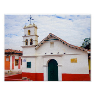 Historic Chapel in Bogota Poster