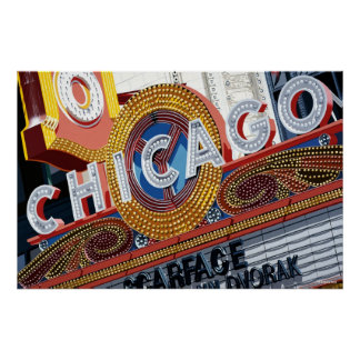 Historic Chicago Theater Poster