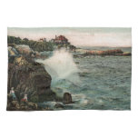 Historic Cliffs of Marblehead, MA Painting Hand Towels