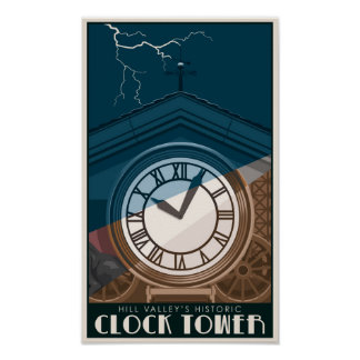Historic Clock Tower Poster