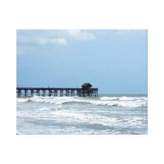 Historic Cocoa Beach Pier Canvas Print