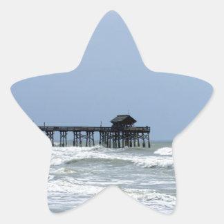 Historic Cocoa Beach Pier Star Sticker