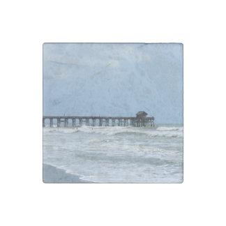 Historic Cocoa Beach Pier Stone Magnet