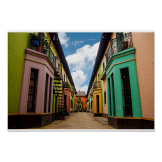 Historic Colorful Buildings Poster