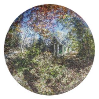 Historic Cottage Melamine Plate