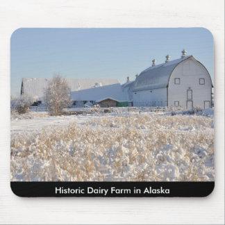 Historic Creamer's Dairy Farm in Winter - Alaska Mousepads