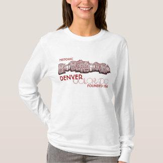 Historic Denver Colorado red ladies hoodie
