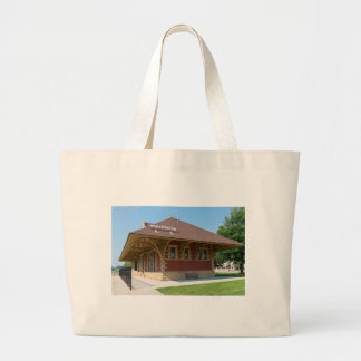 Historic Depot in Whitewater Large Tote Bag