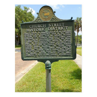 Historic District Marker Dade City Florida Postcard