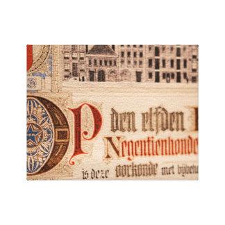 Historic Document  Antique Certificate Vintage Canvas Print