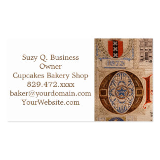 Historic Document  Antique Certificate Vintage Double-Sided Standard Business Cards (Pack Of 100)