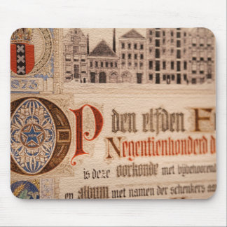 Historic Document  Antique Certificate Vintage Mouse Pad