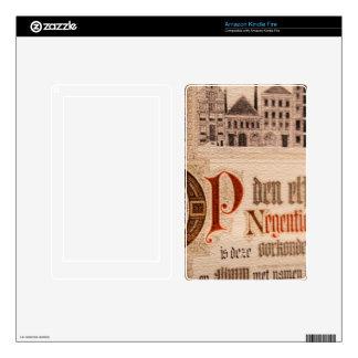 Historic Document  Antique Certificate Vintage Skin For Kindle Fire