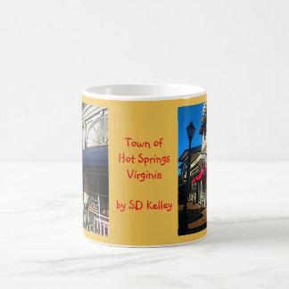 Historic Down Town of Vintage Hot Springs Virginia Coffee Mug
