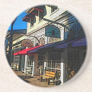 Historic Down Town of Vintage Hot Springs Virginia Drink Coaster