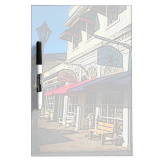 Historic Down Town of Vintage Hot Springs Virginia Dry Erase Board