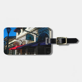 Historic Down Town of Vintage Hot Springs Virginia Luggage Tag