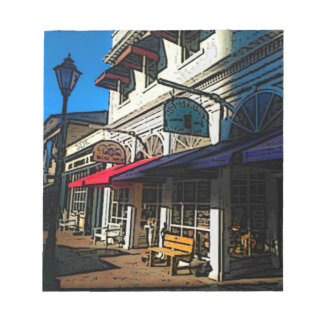 Historic Down Town of Vintage Hot Springs Virginia Notepad
