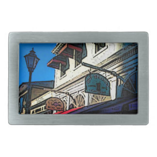 Historic Down Town of Vintage Hot Springs Virginia Rectangular Belt Buckle
