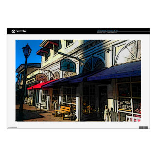 "Historic Down Town of Vintage Hot Springs Virginia Skins For 17"" Laptops"