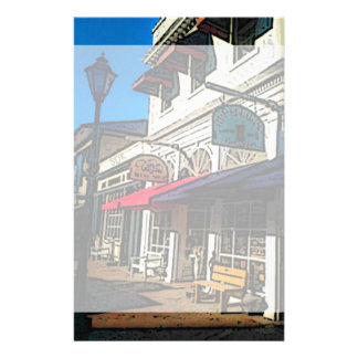 Historic Down Town of Vintage Hot Springs Virginia Stationery