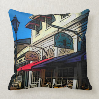 Historic Down Town of Vintage Hot Springs Virginia Throw Pillow