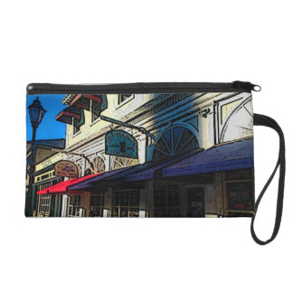 Historic Down Town of Vintage Hot Springs Virginia Wristlet Purse