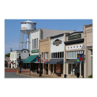 Historic Downtown Henderson, Texas Poster