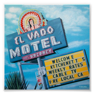 Historic El Vado Motel on Route 66 Poster