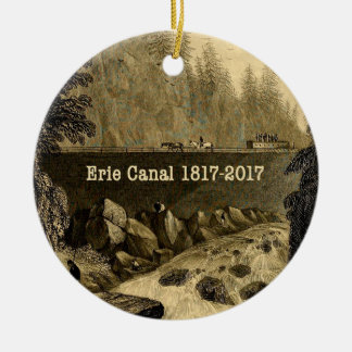 Historic Erie Canal Bicentennial Years Ceramic Ornament