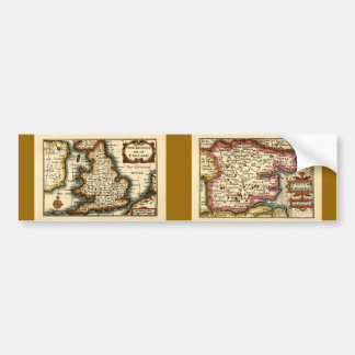 Historic Essex County Map, England Bumper Sticker