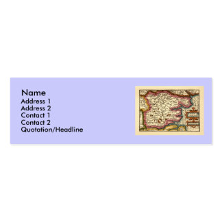 Historic Essex County Map, England Double-Sided Mini Business Cards (Pack Of 20)