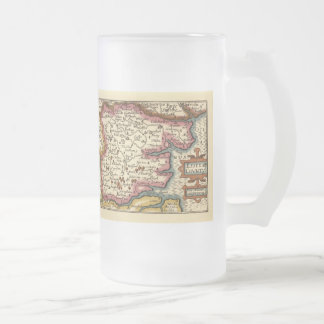 Historic Essex County Map, England Frosted Glass Beer Mug