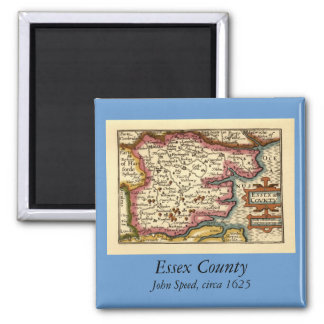 Historic Essex County Map, England Magnet