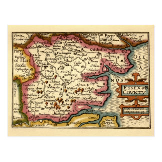 Historic Essex County Map England Post Card