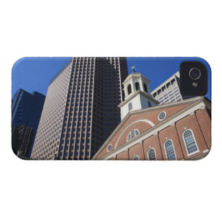 Historic Faneuil Hall against modern Boston iPhone 4 Case-Mate Case
