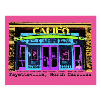 historic Fayetteville NC Cameo black type Postcard