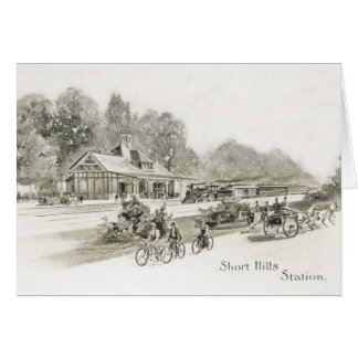 Historic First Short Hills NJ Train Station Card